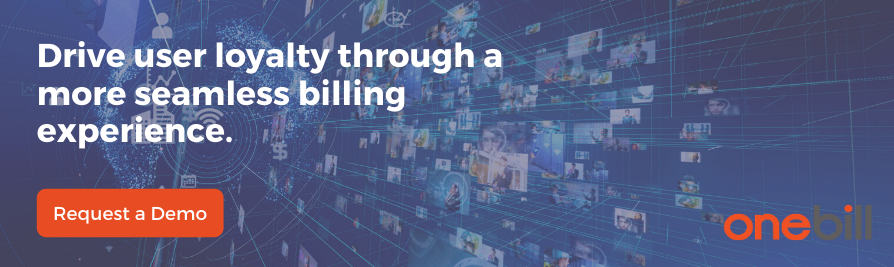 OTT Subscription billing software integrated with CPQ, usage based billing and VOIP billing. OneBill, best SaaS billing system.