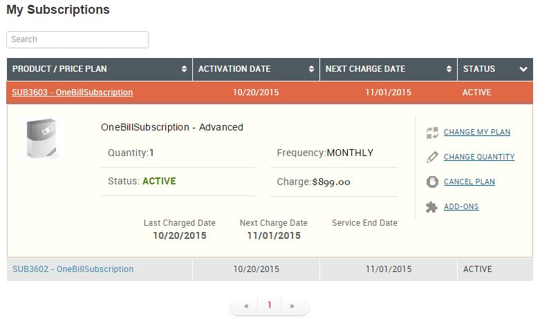 Self-Service Portal Subscribers